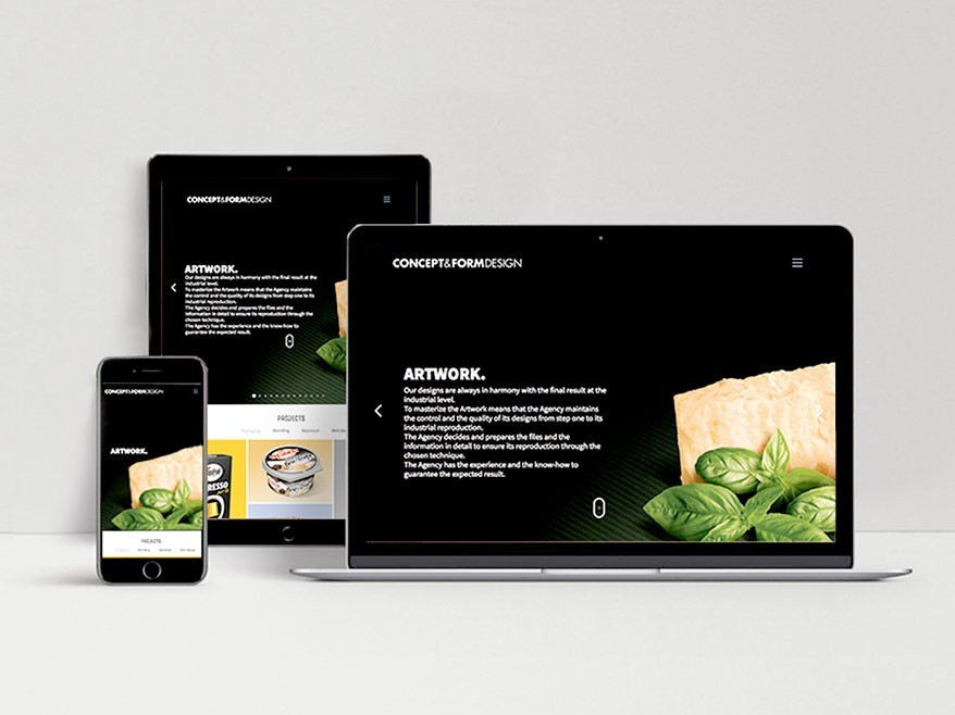 Diseño web - Paginas web - Concepte i Forma - etform